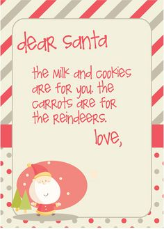 little letter to santa - free printable