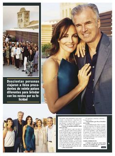 "Adriana Abascal featured  on Revista HOLA / Adriana Abascal Wedding Reception in Ibiza wearing Rubin Singer featured on Revista HOLA. Adriana Abascal won the title of Miss Mexico and participated in ""Miss Universe 1989″ obtaining the 5th position. Her wedding to French businessman Emmanuel Schreder. Congratulations.!!!"