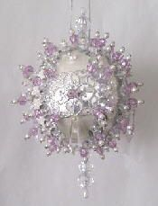 Easy Christmas Beaded Ornaments Kits | Beaded Satin Ball Christmas Ornament My Lavender Heart Kit | eBay