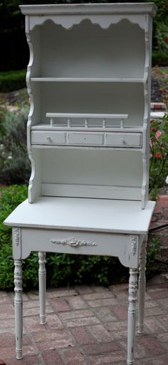 Cottage Shabby Chic Desk with Hutch Set by ShabbyChicFairytale, $274.99