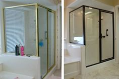 Painted Metal Shower Stall | Small Bathroom Makeovers