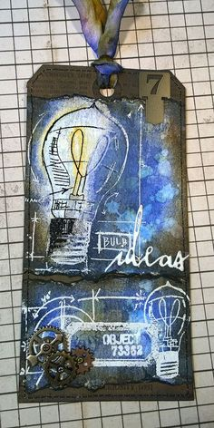 that crazy chick: ideas realized using Tim Holtz, Ranger, Idea-ology, Sizzix and Stamper's Anonymous products; July 2015