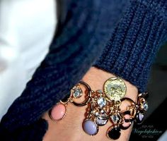Multi charms bracelet handmade  https://www.facebook.com/pages/Virgolafashion-passione-homemade/469254379831797?ref=hl