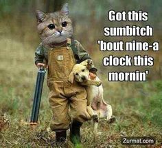 My Southern Roots.. . WVA....  I'm just saying it's funny...  I Love Animals.....  Sumbitch! Hehehe....