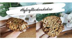 Bananen Haferflocken Frühstückskekse (Vegan, Glutenfrei) - KlaraMaria-Haug Dairy Free, Sweets, Cookies, Chocolate, Desserts, Food, Glutenfree, Sheet Pan, Bakken