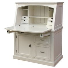 Awesome White Secretary Desk With Hutch With Dimensions(H X W X D): 54.5