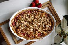 Smulpaj med jordgubbar och nötter (paleo)