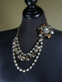 Mourning Bells  Reclaimed Necklace Jewelry by Camelotjewels, $42.00
