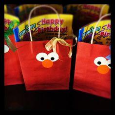 Elmo birthday party favors/treat bags