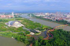 Yanweizhou Park by Turenscape  http://www.dezeen.com/2015/12/07/terraces-of-plants-yanweizhou-park-control-floods-ecological-turenscape-landscape-architecture-china/