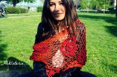 Triangular scarf for summer