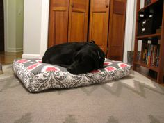 Dog bed cover pattern