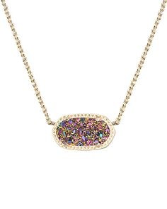 Elisa Pendant Necklace in Multi Colored Drusy - Kendra Scott Jewelry.