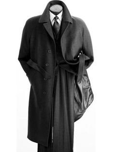 Angelo Mens Black Full Length Wool Overcoat IS When a man wear suits all the time he Sharp Dressed Man, Well Dressed Men, Coat Dress, Men Dress, Dress Shoes, Mens Wool Overcoat, Herren Style, Suit And Tie, Gentleman Style