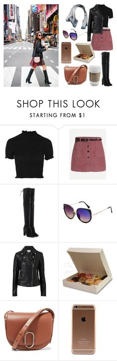 """""""Time Out in Times Square w/ Danielle Peazer"""" by wifeofniall17 ❤ liked on Polyvore featuring Topshop, Stuart Weitzman, Witchery and 3.1 Phillip Lim"""