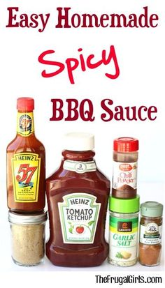 Easy Homemade Spicy Barbecue Sauce Recipe! ~ from TheFrugalGirls.com ~ skip the store bought BBQ sauce and make your own delicious sauce at home! It's SO easy!! #recipes #thefrugalgirls
