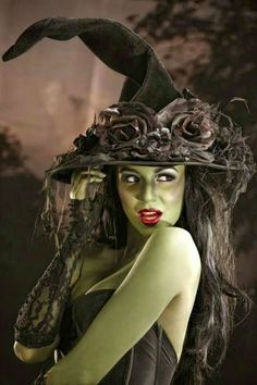 Nearly every witch makeup - especially around Halloween - has been influenced by the Wicked Witch of the West from THE WIZARD OF OZ movie....and now WICKED:  The Musical!