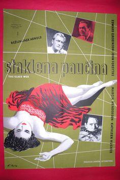 GLASS WEB 1953 KATHLEEN HUGHES EDWARD ROBINSON  MARCIA HENDERSON YU MOVIE POSTER