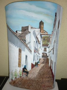 Calle tipica Velez-Malaga - love the painting on this