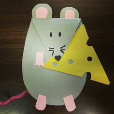 """Kick starting our Halloween theme month for storytime here @ Alamitos library, look @ our mouse  cheese craft for this week's theme: """"things @ nite"""""""