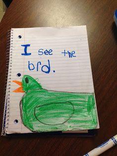 Chalk Talk: A Kindergarten Blog: Daily Five: Work on Writing