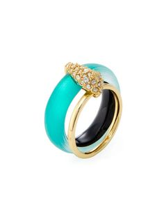 Crystal Encrusted Movable Band Ring by Alexis Bittar at Gilt
