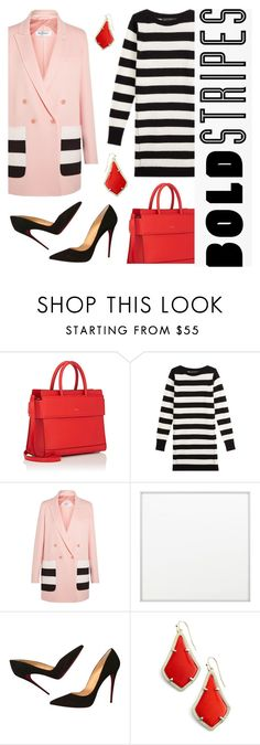 """""""bold stripes"""" by janesmiley ❤ liked on Polyvore featuring Givenchy, Marc Jacobs, MaxMara, By Lassen, Christian Louboutin and Kendra Scott"""