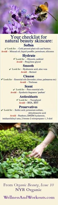 NYR Organic Natural Beauty Checklist for safe ingredients.