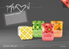 YOGHEART_Fruit Yogurt Plastic Packaging on Behance
