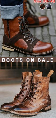Mens Fall Boots, Men Boots, Combat Boots, Car Sales Man, Desert Shoes, Blue Motorcycle, Skeleton Watches, Time Shop, Boots For Sale