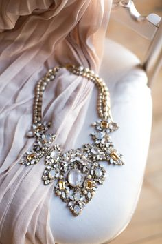 rhinestone necklace | Photo by Heather Cook Elliott Photography | Read more - http://www.100layercake.com/blog/?p=76584 #necklace #bridal
