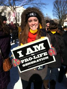 Kaitlyn, student from St Mary's college Notre Dame, IN at the March for Life rally