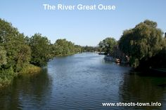 The Great River Ouse running through St.Neots