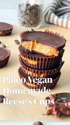 Healthy Vegan Desserts, Clean Eating Desserts, Vegan Treats, Paleo Dessert, Vegan Snacks, Paleo Sweets, Paleo Vegan, Healthy Food, Gluten Free Recipes
