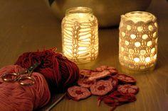 Woolbunnies: Jar candle cozies. free patterns
