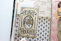 love the frame and tiny tag at the top  besottment by paper relics: Sewn Journaling Pages Part IV