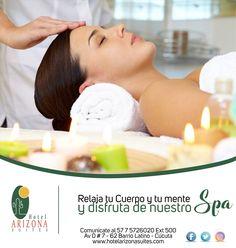 Relaja tu cuerpo y tu mente después de un día ocupado y disfruta en el Hotel Arizona Suites Cúcuta de nuestro Spa. Comunícate al 57 7 5726020 Ext 500 #Cucuta #Spa #Relax #Colombia #Negocios