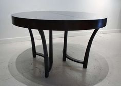 T.H, Robsjohn Gibbings Expandable Round Dining Table image 4