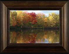 Paradise By Todd Thunstedt 20x26 Tree Landscape Lake River Fall Sun Wisconsin Autumn Day HDR Framed Art Print Wall Décor Picture ThunderMark Art and Graphics http://www.amazon.com/dp/B014FV1210/ref=cm_sw_r_pi_dp_xB44vb12YW58A