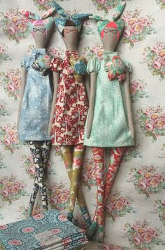 Simple Fabric Crafts You Can Make From Scraps - Diy Crafts Doll Crafts, Diy Doll, Sewing Crafts, Doll Clothes Patterns, Doll Patterns, Doll Toys, Baby Dolls, Tilda Toy, Homemade Dolls