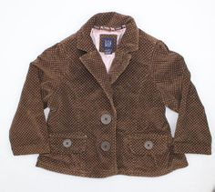 Cute Girls Baby Gap Corduroy Jacket with Pink Polka Dots, Size 2 and Only $5.50 online May Bug Treasures Resale!