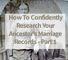 For many of you this can delay or prevent the acceptance of a lineage society application. Frustrating? Frustrated about not finding your ancestor's marriage record? (Me, too!) Let's just not admit defeat yet, until we have looked at all of our options.