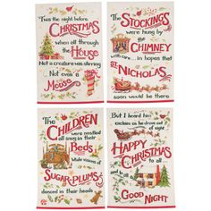 Twas the Night Before Christmas Towels