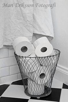 Nice storage of toilet paper!