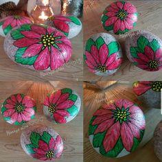 #malpåsten #minesten #mintid #sten #rockart #posca #malpåsten #christmas #jul #julepynt #julestjerne #poinsettia #rocks #rock #terapi #kanikkevente #stonepainting #flower #myartwork #myart #myhome #minjul #poscaart