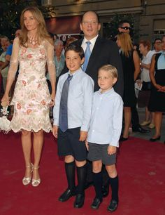 (L-R) Princess Miriam, Prince Kardam with their two children Prince Boris and Prince Beltran of Bulgaria