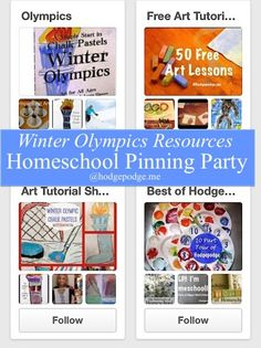 Winter Olympics Resources at Ultimate Homeschool Pinning Party! www.hodgepodge.me