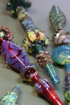 Gail Crosman Moore lampwork beads.