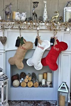 Items similar to Dog Bone Christmas Stockings Christmas Decor Embroidered Personalized Holiday Pet with Bone Customized Embroidered with Dog's Name on Etsy Christmas Dog, Christmas Crafts, Christmas Decorations, Holiday Decor, Diy Christmas Stockings, Diy Stockings, Christmas Quotes, Country Christmas, Christmas Pictures