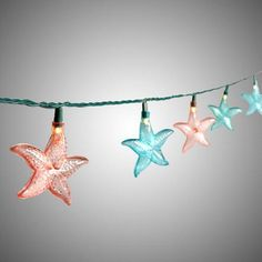One of my favorite discoveries at ChristmasTreeShops.com: 8.25' Blue/Pink Starfish String Lights
